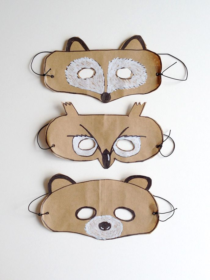 DIY Forest Friends Animal Masks for Kids | via Handmade Charlotte
