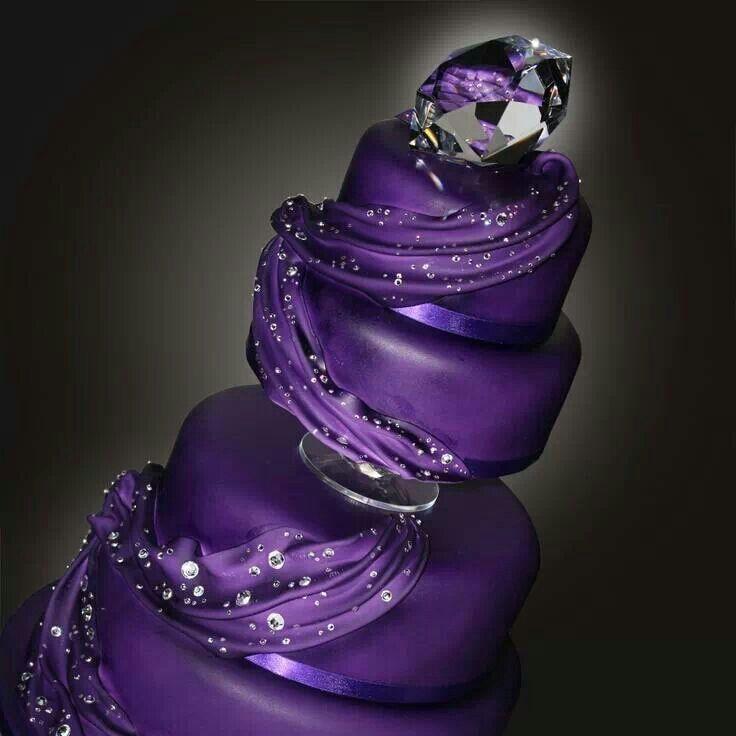 Purple Colour Cake Images : Purple and sparkle cake cakes.  Pinterest