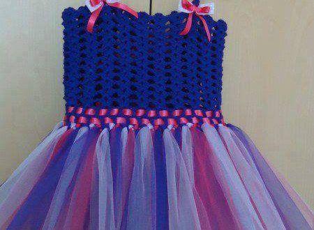Mavi askılı örgü tütü elbiseler - Bebek Çocuk Elbiseleri