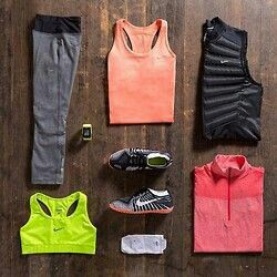 Workout//Outfit//Vest//Nike//Jacket//Pant//Pink//Yellow//Shoes//Run