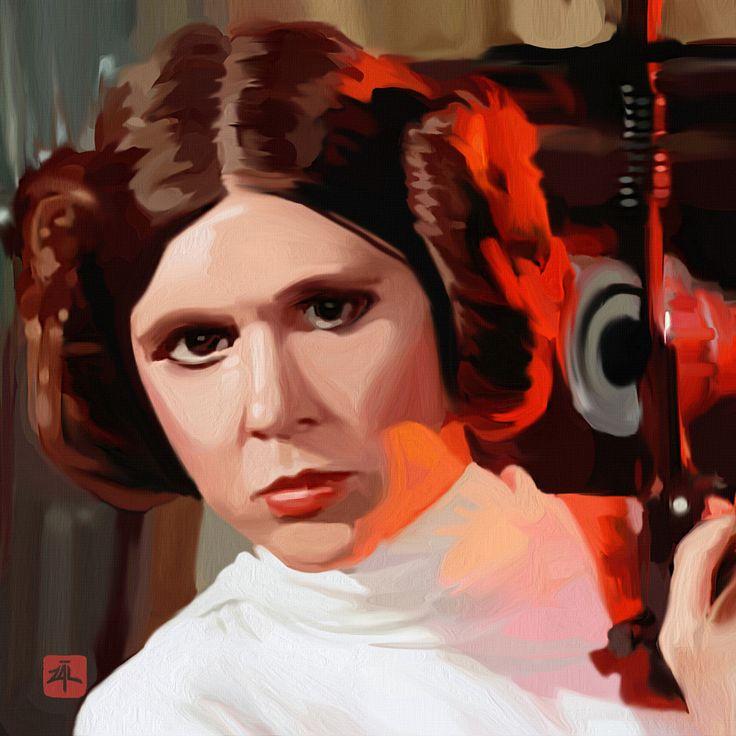 Portrait of #CarrieFisher #PrincessLeia #StarWars