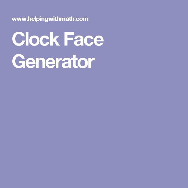 Clock Face Generator