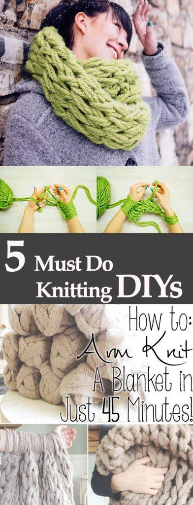 Best 5 Scarf knitting DIYs