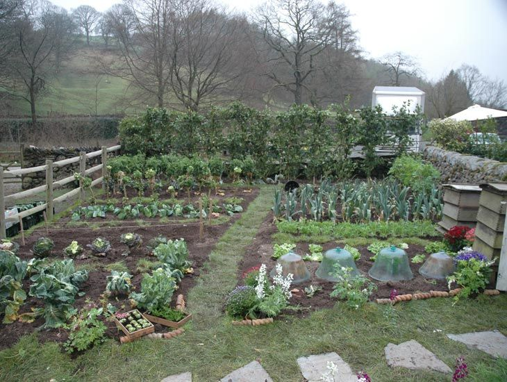 45 Tonnes Of Topsoil, Specially Grown Vegetables, A Few Period Props And  Silk Flowers