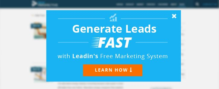 Looking for fast lead generation? Check out the free marketing system, Leadin.