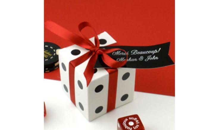 Boite à dragées dès :  Mariage thème Casino