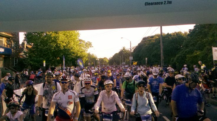 Riders get ready to Ride the Bridge!