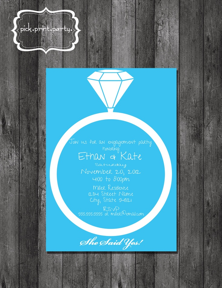invitation letter for judging an event%0A Engagement Party Invitation  Bling  DIY  Printable          via Etsy