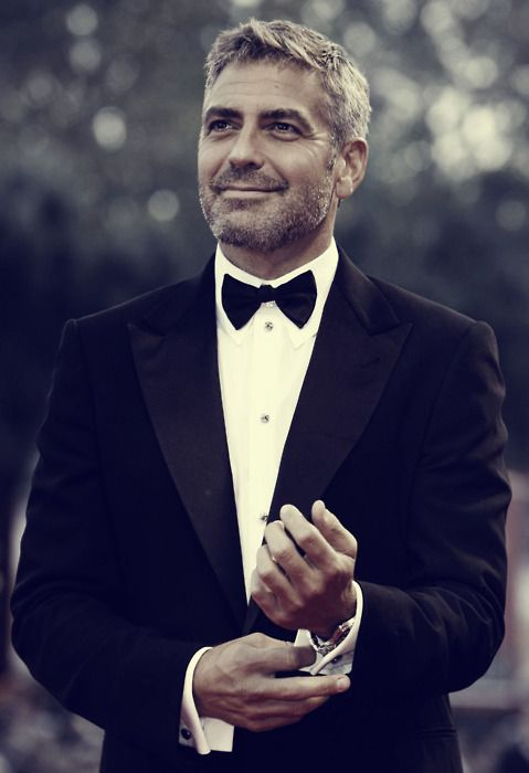 lets be honest, i had to.: Eye Candy, George Clooney, Celebrity, Bows Ties, Style, Silver Foxes, Georgeclooney, Actor, Man