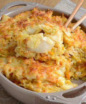 Bacalhau de legumes gratinado - Riberalves