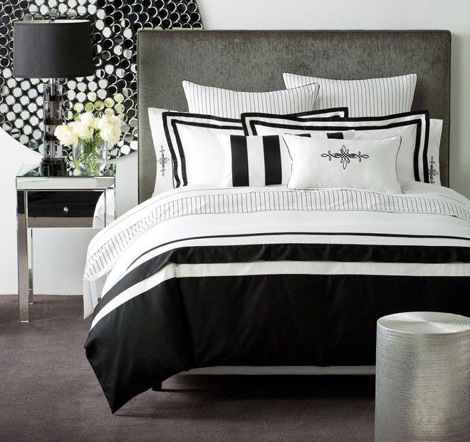 Linen House Boutique Belmont Quilt Cover Set Range Black and White