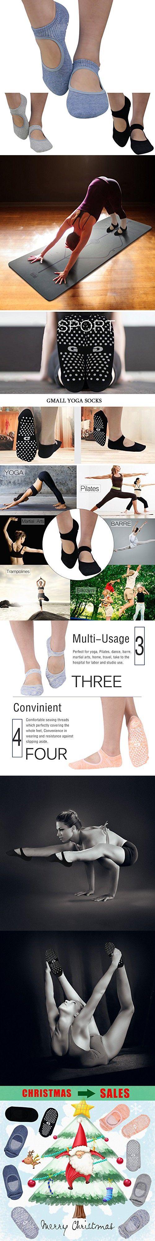 Low Cut Socks, Yoga Pilates Socks Non Slip Skid Barre Sock with Grips for Women Gmall 3 Pairs
