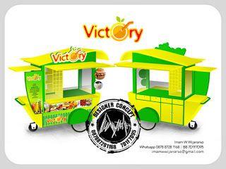 Jasa Desain Logo Kuliner |  Desain Gerobak | Jasa Desain Gerobak Waralaba: Desain Gerobak Dorong Victory