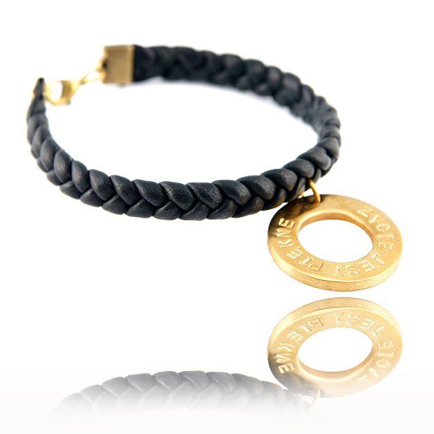 personalized bracelet, braid bracelet, leather