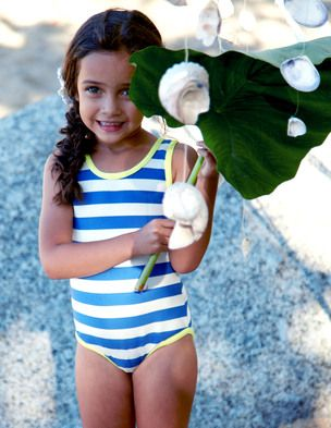 Blue and White Stripe swimsuit or Red and Blue Polka dot - Size 1.5 - 2Year