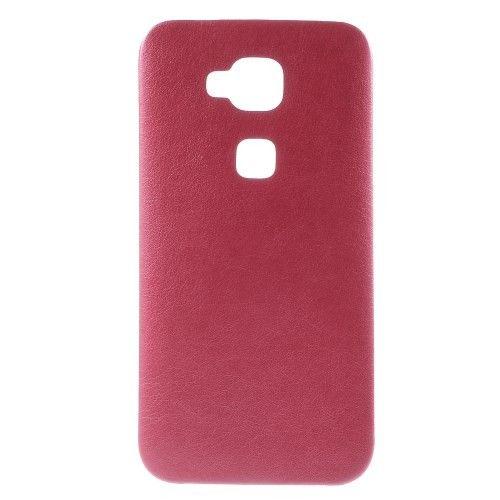 Rood leder look TPU hoesje voor Huawei G8