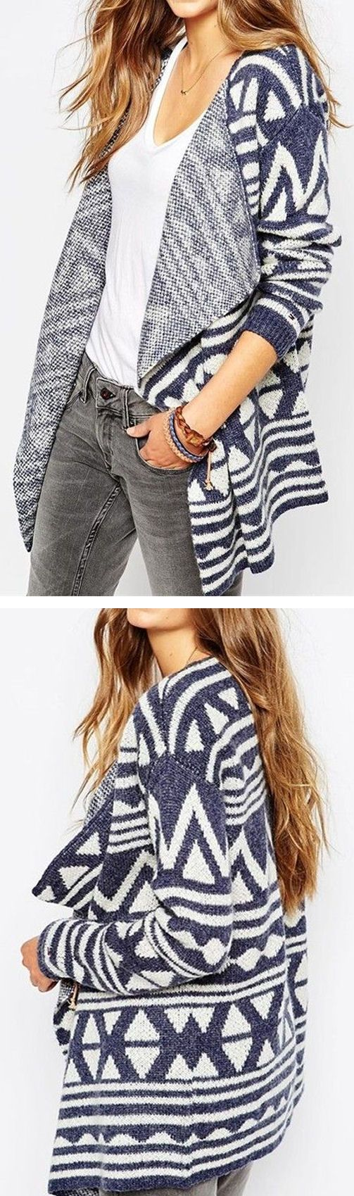 Geo Aztec Cardigan Sweater ❤︎
