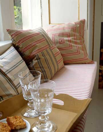 Country Living porch pillows.