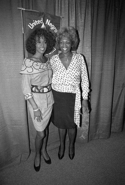 Whitney Houston is seen with her mother, Cissy Houston (R), at a news conference in New York City, in this July 11, 1988