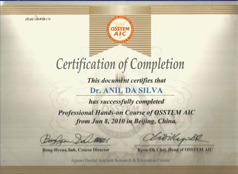 Professional Hands on Course of Osstem AIC