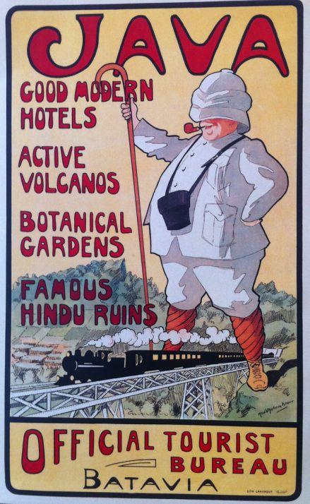 Vintage Travel Poster, Batavia, Netherlands Indies (now Indonesia), Java Island.