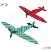Spitfire airplane applique template - via @Craftsy