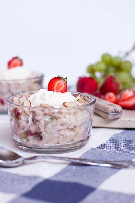 avena con fruta y yogurt