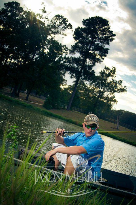 Fishing senior picture ideas. Senior pictures for girls and guys who fish. #fishingseniorpictures #seniorpictureideas