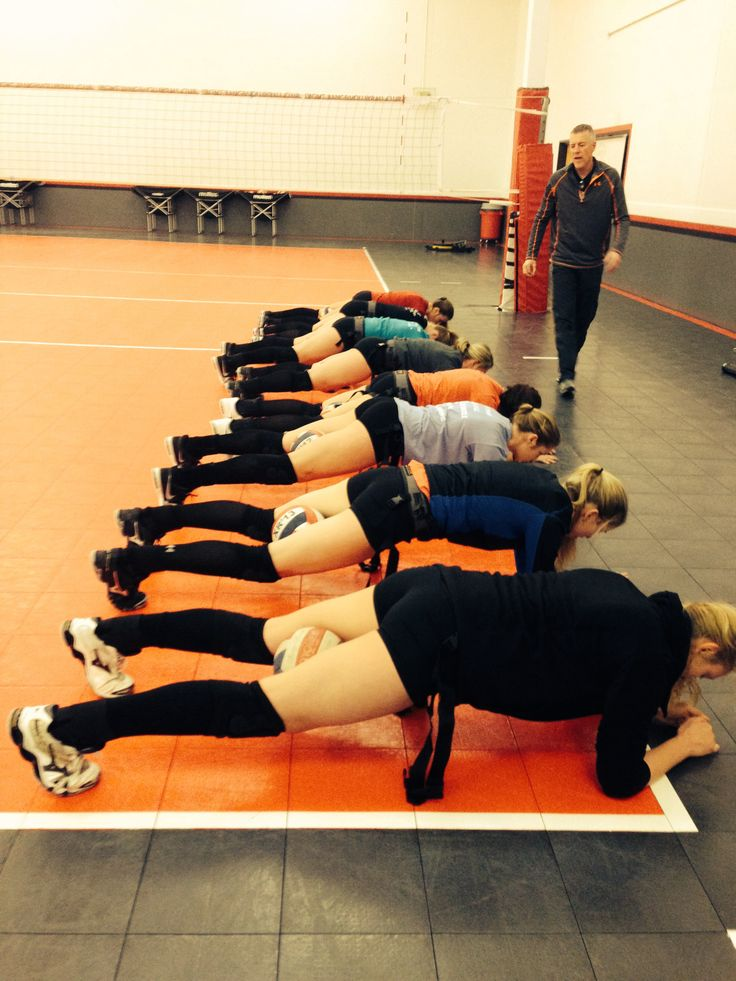 Planks, Core Strength & Volleyball Practice.   www.powercore360.com    Squeeze a ball between thighs to better engage glutes and abs while reducing low back work.