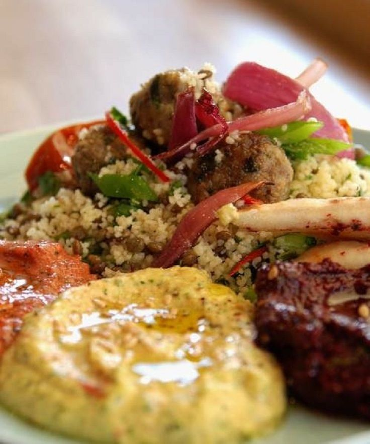 Lamb Meatballs with Couscous Salad | Food and Drink | Pinterest