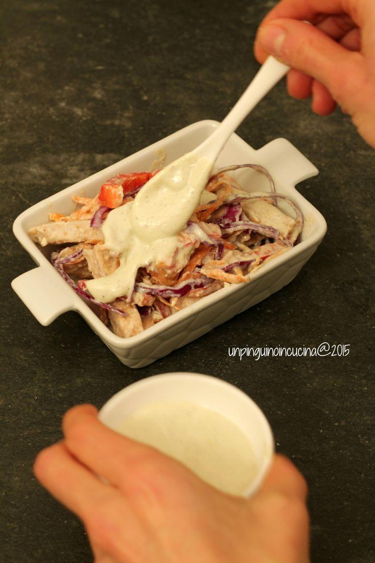 Chicken Salad with Tofu Mayo - Insalata di pollo con maionese di tofu