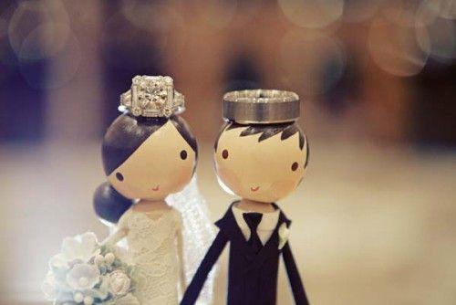 10 porte-alliances originaux pour un mariage tendance