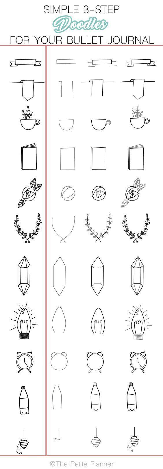 Einfache Doodles, die Sie problemlos in Ihr Bullet-Journal kopieren können