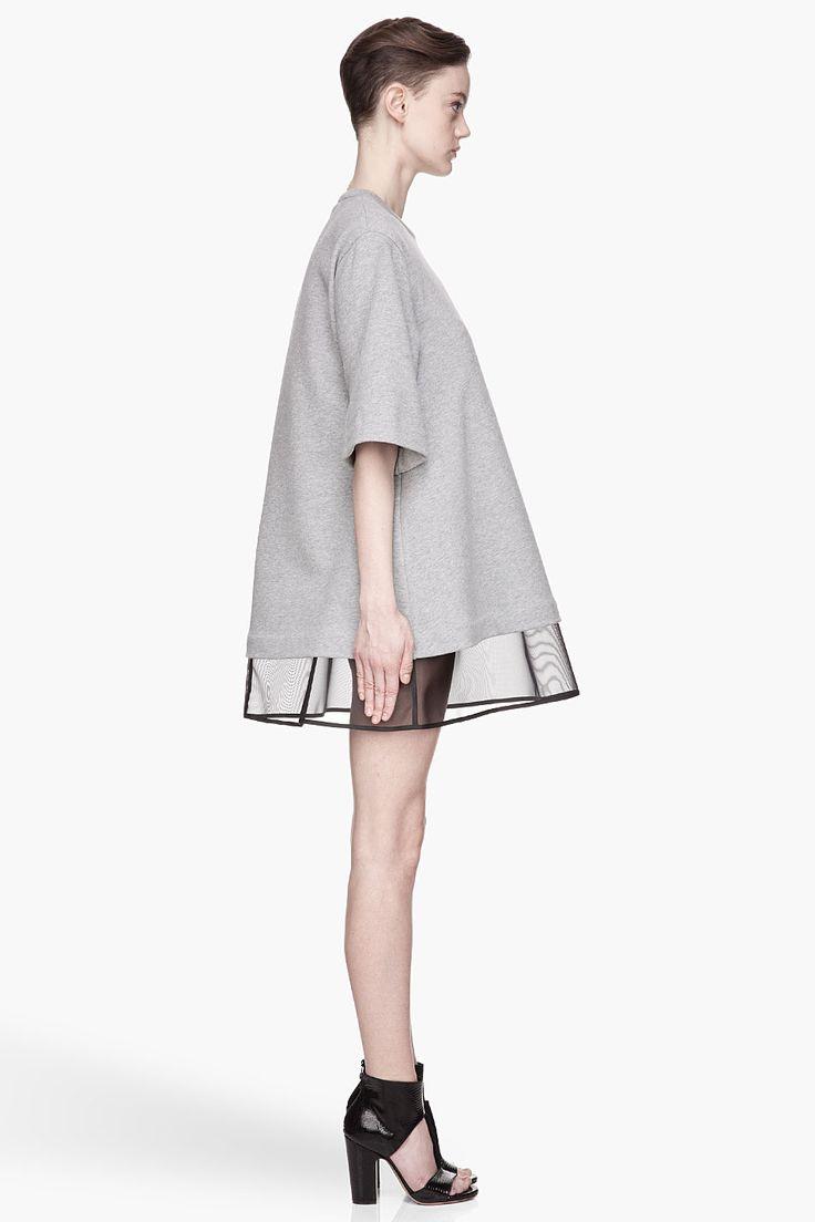 #MAISON #MARTIN #MARGIELA Heather Grey black slip Dress