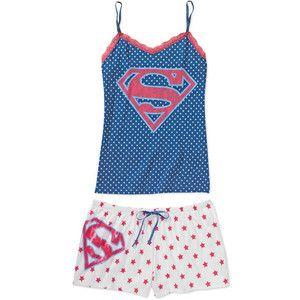womens superman pajamas | shop intimates sleepwear pajamas women s superman sleep tank and ...