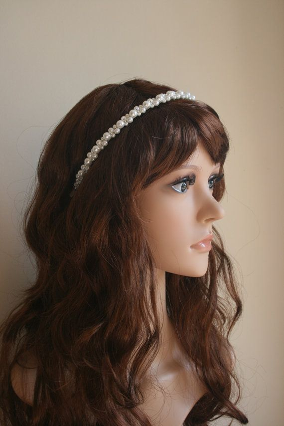Pearl Headband Pearl Hairpiece Pearl Headpiece by JewellerySmith