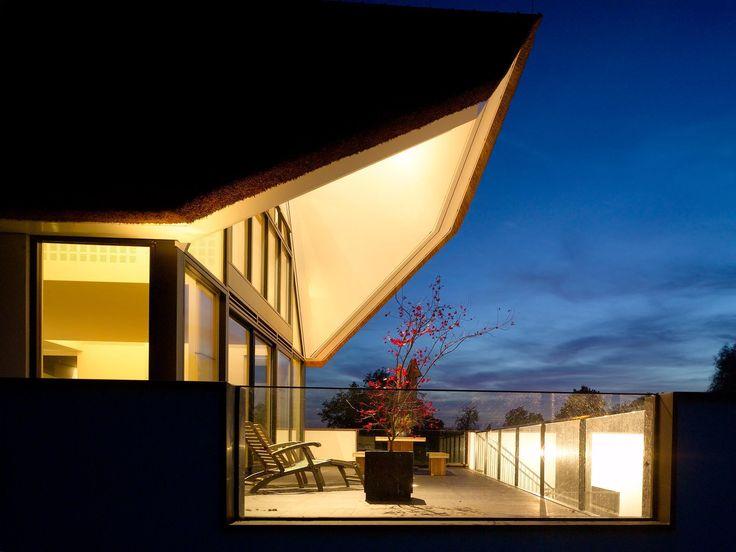 architectuur, licht, riet, glas, modern, maasarchitecten