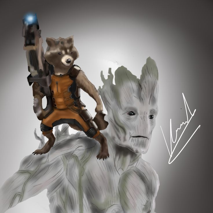 #Groot #Rocket #Drawing #Painting #Draw #Paint #Art #Artistic #Picture #Graphics #Marvel #Comic #Dance #GuardianesDeLaGalaxia #GuardiansOfTheGalaxy