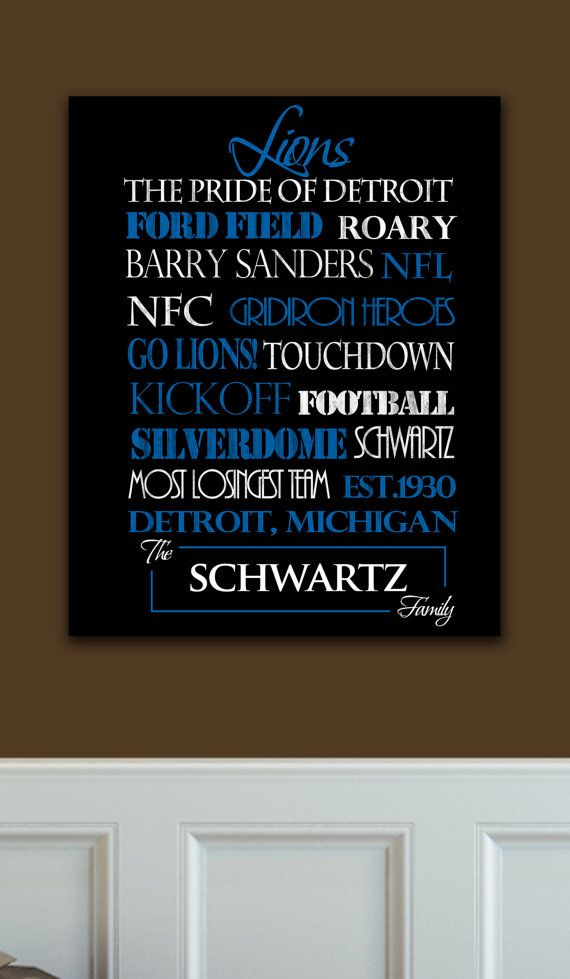 Detroit Lions: Ready to Hang Standout by SportingStandouts on Etsy