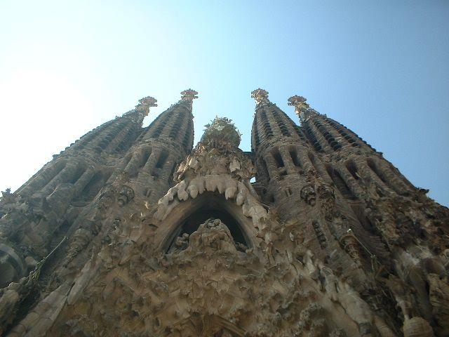 """""""La Sagrada Familia, Facciata della Natività""""."""
