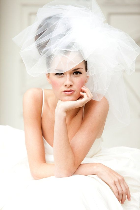 Wedding Veil  Classy Bubble Veil by FascinatingCreations on Etsy, $149.00