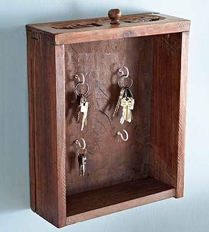 Repurpose old drawer for easy key access!