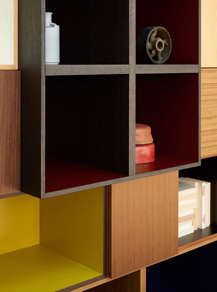 Contemporary TV wall unit / wooden / by Piero Lissoni - MODERN LIVING - Porro