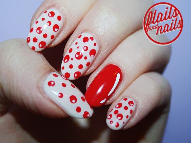 Ten Best Polka Dot Nail Art Designs #nails