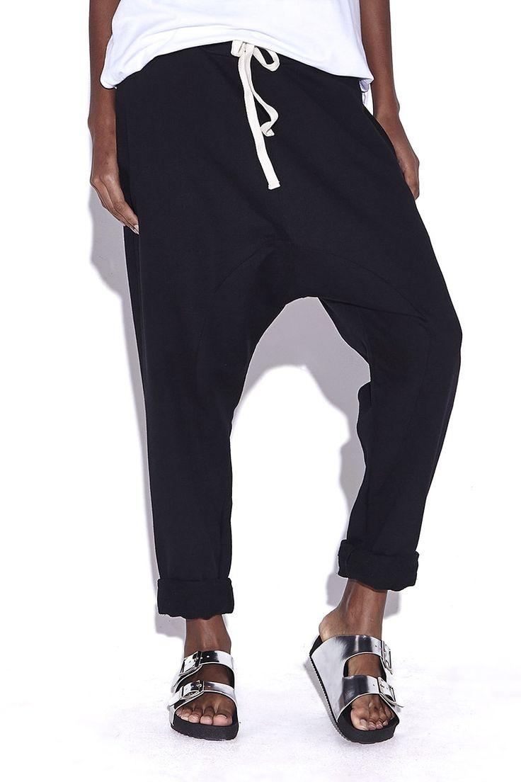 Calça de Moletom Feminina Saruel Jogging Preta- Compre já - KING55 Loja de roupas