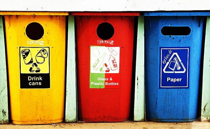 Tipos de contenedores de basura, cada residuo a su cubo > http://soymedioambiente.com/tipos-de-contenedores-de-basura