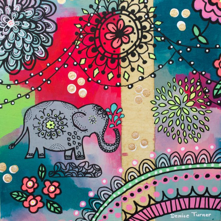 BOHEMIAN ELEPHANT #3 Print by PositivelyArt on Etsy.The elephant's characteristics of reliability, memory, strength and honour are captured in the various poses. Elephants teach us  to be gentle, committed and be good communicators in our relationships. A vibrant tribute to any elephant lover! The print is reproduced on smooth, matte, fine archival paper allowing for an impressive pictorial depth of the original. www.positivelyart.ca
