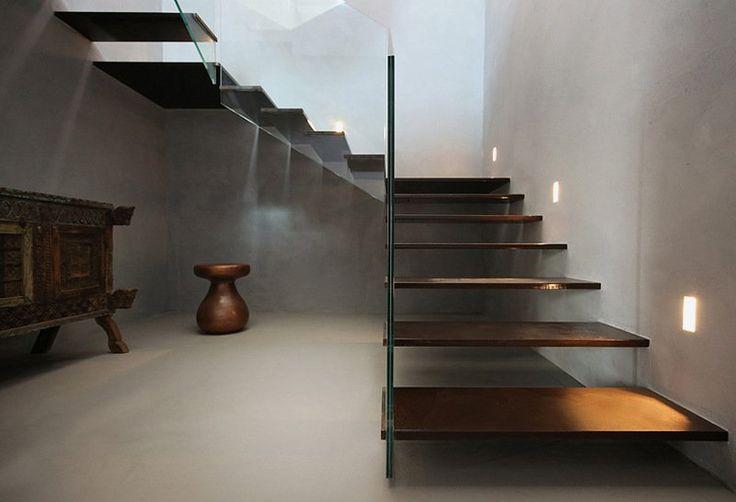 escalier intérieur en acier corten