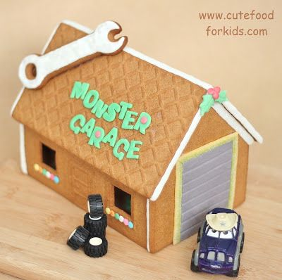 Bak een koekhuisje en maak een garage voor Cars -Cute Food For Kids - IKEA Gingerbread House Kit - Monster Garage