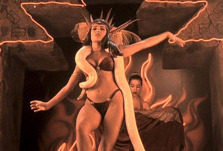Salma Hayek as Santanico Pandemonium on From Dusk Till Down from Robert Rodriguez